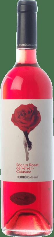 9,95 € 免费送货 | 玫瑰酒 Ferré i Catasús Sóc un Rosat D.O. Penedès 加泰罗尼亚 西班牙 Merlot 瓶子 75 cl