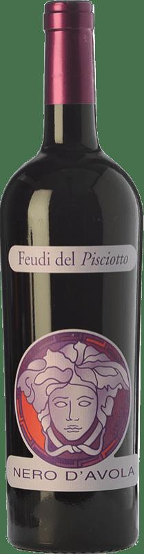 16,95 € Free Shipping | Red wine Feudi del Pisciotto Versace I.G.T. Terre Siciliane Sicily Italy Nero d'Avola Bottle 75 cl