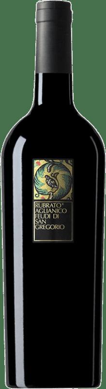 9,95 € Envío gratis | Vino tinto Feudi di San Gregorio Rubrato D.O.C. Irpinia Campania Italia Aglianico Botella 75 cl