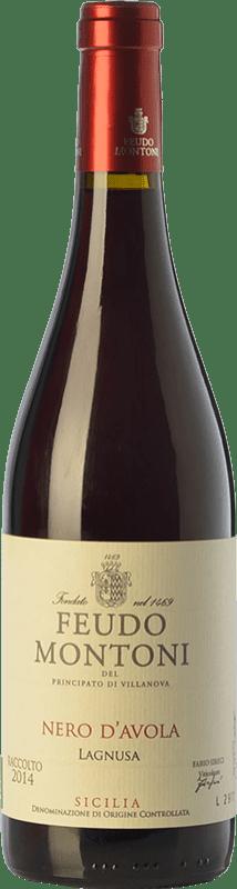 16,95 € Free Shipping | Red wine Feudo Montoni Lagnusa I.G.T. Terre Siciliane Sicily Italy Nero d'Avola Bottle 75 cl