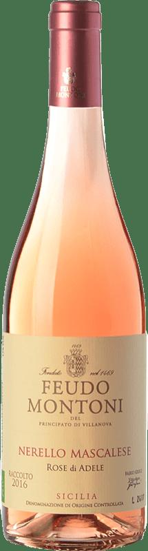 15,95 € 免费送货   玫瑰酒 Feudo Montoni Rose di Adele I.G.T. Terre Siciliane 西西里岛 意大利 Nerello Mascalese 瓶子 75 cl