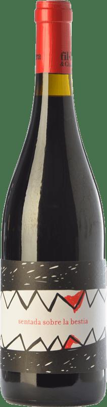 15,95 € Free Shipping   Red wine Fil'Oxera Sentada sobre la Bestia Joven D.O. Valencia Valencian Community Spain Tempranillo, Monastrell, Grenache Tintorera, Malvasía Bottle 75 cl