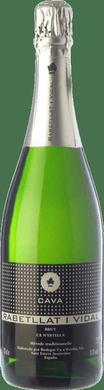 7,95 € Envoi gratuit | Blanc moussant Ca N'Estella Rabetllat i Vidal Brut D.O. Cava Catalogne Espagne Macabeo, Xarel·lo Bouteille 75 cl