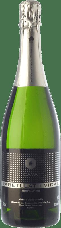 9,95 € Free Shipping | White sparkling Ca N'Estella Rabetllat i Vidal Brut Nature Reserva D.O. Cava Catalonia Spain Macabeo, Xarel·lo, Chardonnay Bottle 75 cl