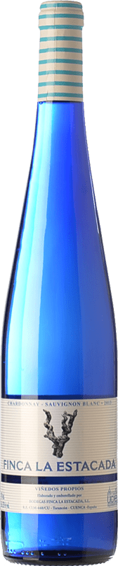 5,95 € 免费送货 | 白酒 Finca La Estacada Chardonnay-Sauvignon Blanc D.O. Uclés 卡斯蒂利亚 - 拉曼恰 西班牙 Chardonnay, Sauvignon White 瓶子 75 cl