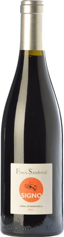 19,95 € Free Shipping | Red wine Finca Sandoval Signo Bobal Crianza D.O. Manchuela Castilla la Mancha Spain Syrah, Bobal Bottle 75 cl