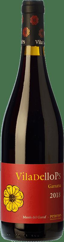 6,95 € 免费送货 | 红酒 Finca Viladellops Garnatxa Joven D.O. Penedès 加泰罗尼亚 西班牙 Grenache 瓶子 75 cl