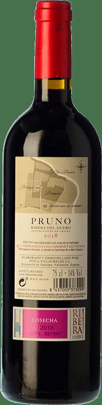 11,95 € Free Shipping | Red wine Finca Villacreces Pruno Crianza D.O. Ribera del Duero Castilla y León Spain Tempranillo, Cabernet Sauvignon Magnum Bottle 1,5 L