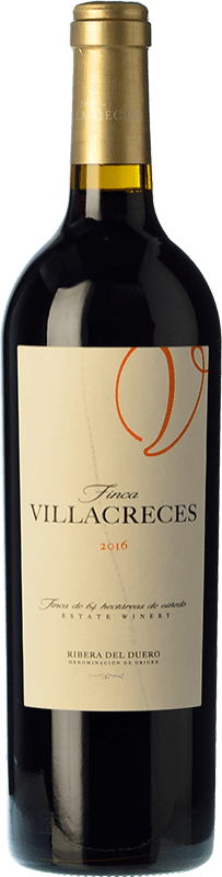 Free Shipping | Red wine Finca Villacreces Crianza 2015 D.O. Ribera del Duero Castilla y León Spain Tempranillo, Merlot, Cabernet Sauvignon Bottle 75 cl