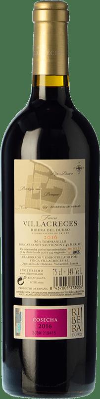 28,95 € Free Shipping   Red wine Finca Villacreces Crianza D.O. Ribera del Duero Castilla y León Spain Tempranillo, Merlot, Cabernet Sauvignon Magnum Bottle 1,5 L