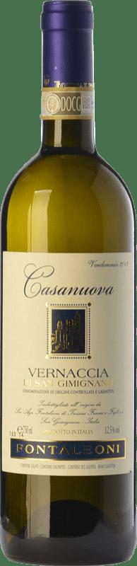13,95 € Free Shipping | White wine Fontaleoni Casa Nuova D.O.C.G. Vernaccia di San Gimignano Tuscany Italy Vernaccia Bottle 75 cl