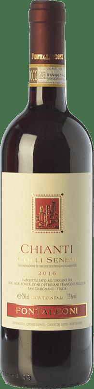 11,95 € Free Shipping | Red wine Fontaleoni Colli Senesi D.O.C.G. Chianti Tuscany Italy Sangiovese Bottle 75 cl