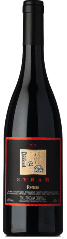 42,95 € Free Shipping | Red wine Fontodi Case Via I.G.T. Colli della Toscana Centrale Tuscany Italy Syrah Bottle 75 cl