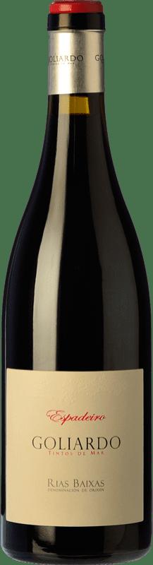 39,95 € Envío gratis | Vino tinto Forjas del Salnés Goliardo Crianza D.O. Rías Baixas Galicia España Espadeiro Botella 75 cl