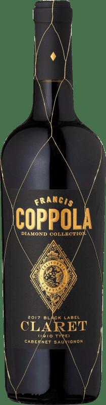 29,95 € 免费送货   红酒 Francis Ford Coppola Diamond Claret Crianza I.G. California 加州 美国 Merlot, Cabernet Sauvignon, Cabernet Franc, Petit Verdot 瓶子 75 cl