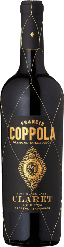 29,95 € Envoi gratuit | Vin rouge Francis Ford Coppola Diamond Claret Crianza I.G. California Californie États Unis Merlot, Cabernet Sauvignon, Cabernet Franc, Petit Verdot Bouteille 75 cl