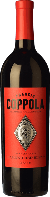 27,95 € Free Shipping | Red wine Francis Ford Coppola Diamond Red Blend Crianza I.G. California California United States Merlot, Syrah, Cabernet Sauvignon, Petite Syrah, Zinfandel Bottle 75 cl