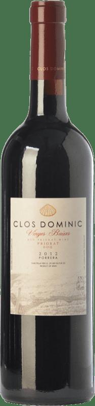 33,95 € Free Shipping | Red wine Clos Dominic Vinyes Baixes Crianza D.O.Ca. Priorat Catalonia Spain Merlot, Grenache, Cabernet Sauvignon, Carignan, Picapoll Black Bottle 75 cl