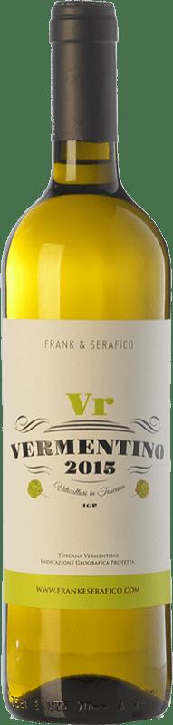 12,95 € Free Shipping | White wine Frank & Serafico Vr I.G.T. Toscana Tuscany Italy Vermentino Bottle 75 cl