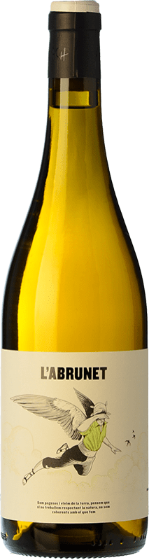 9,95 € Envío gratis | Vino blanco Frisach L'Abrunet Blanc D.O. Terra Alta Cataluña España Garnacha Blanca Botella 75 cl