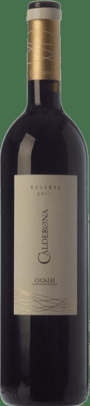 12,95 € 免费送货 | 红酒 Frutos Villar Calderona Reserva D.O. Cigales 卡斯蒂利亚莱昂 西班牙 Tempranillo 瓶子 75 cl