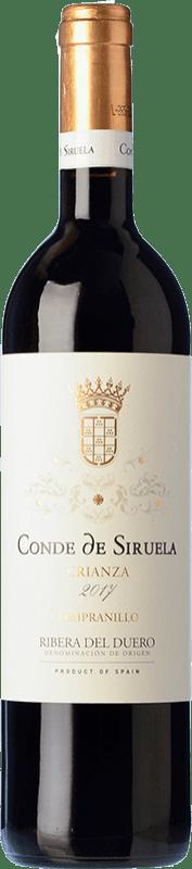 16,95 € 免费送货 | 红酒 Frutos Villar Conde Siruela Crianza D.O. Ribera del Duero 卡斯蒂利亚莱昂 西班牙 Tempranillo 瓶子 75 cl