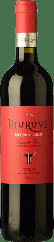 6,95 € 免费送货 | 红酒 Frutos Villar Muruve Roble D.O. Toro 卡斯蒂利亚莱昂 西班牙 Tinta de Toro 瓶子 75 cl