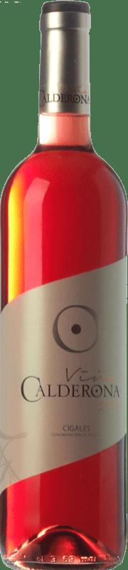 5,95 € Spedizione Gratuita | Vino rosato Frutos Villar Viña Calderona Joven D.O. Cigales Castilla y León Spagna Tempranillo, Grenache, Albillo, Verdejo Bottiglia 75 cl