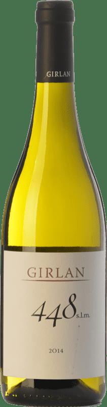 11,95 € 免费送货 | 白酒 Girlan 448 S.L.M. Bianco I.G.T. Vigneti delle Dolomiti 特伦蒂诺 意大利 Chardonnay, Pinot White, Sauvignon 瓶子 75 cl