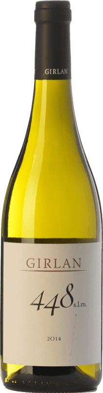 11,95 € Envío gratis | Vino blanco Girlan 448 S.L.M. Bianco I.G.T. Vigneti delle Dolomiti Trentino Italia Chardonnay, Pinot Blanco, Sauvignon Botella 75 cl