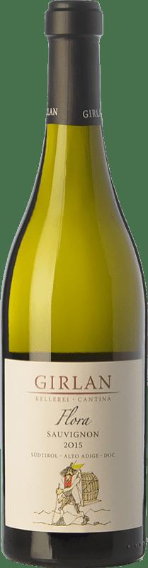18,95 € 免费送货 | 白酒 Girlan Sauvignon Flora D.O.C. Alto Adige 特伦蒂诺 - 上阿迪杰 意大利 Sauvignon White 瓶子 75 cl