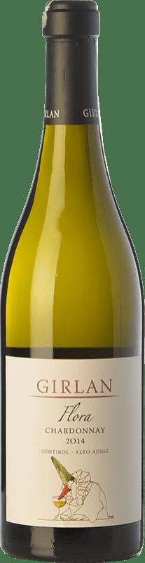27,95 € Envío gratis | Vino blanco Girlan Flora D.O.C. Alto Adige Trentino-Alto Adige Italia Chardonnay Botella 75 cl