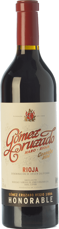 32,95 € Envoi gratuit | Vin rouge Gómez Cruzado Honorable Reserva D.O.Ca. Rioja La Rioja Espagne Tempranillo, Grenache, Graciano, Mazuelo, Viura Bouteille 75 cl