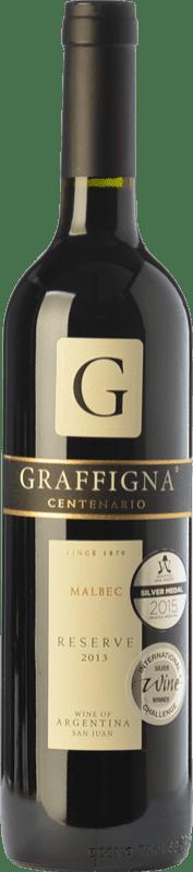 13,95 € Free Shipping | Red wine Graffigna Centenario Crianza I.G. San Juan San Juan Argentina Malbec Bottle 75 cl