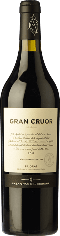 55,95 € | Red wine Gran del Siurana Gran Cruor Crianza 2010 D.O.Ca. Priorat Catalonia Spain Syrah, Carignan Bottle 75 cl