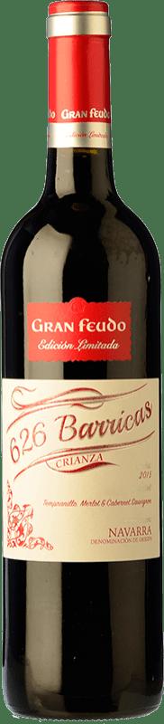 6,95 € Envoi gratuit | Vin rouge Gran Feudo Edición 626 Barricas Crianza D.O. Navarra Navarre Espagne Tempranillo, Merlot, Cabernet Sauvignon Bouteille 75 cl