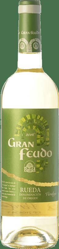 7,95 € Envío gratis   Vino blanco Gran Feudo D.O. Rueda Castilla y León España Verdejo Botella 75 cl