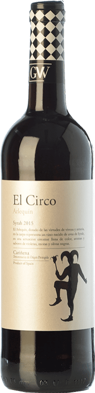 4,95 € 免费送货 | 红酒 Grandes Vinos El Circo Arlequín Joven D.O. Cariñena 阿拉贡 西班牙 Syrah 瓶子 75 cl