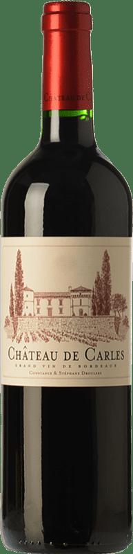 26,95 € Free Shipping | Red wine Château Haut-Carles Château de Carles Crianza A.O.C. Fronsac Bordeaux France Merlot, Cabernet Franc, Malbec Bottle 75 cl