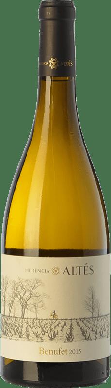 18,95 € Envío gratis | Vino blanco Herència Altés Benufet Crianza D.O. Terra Alta Cataluña España Garnacha Blanca Botella 75 cl
