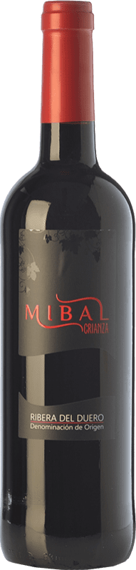 12,95 € Free Shipping | Red wine Hornillos Ballesteros Mibal Joven D.O. Ribera del Duero Castilla y León Spain Tempranillo Bottle 75 cl