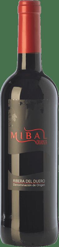 12,95 € Envío gratis | Vino tinto Hornillos Ballesteros Mibal Joven D.O. Ribera del Duero Castilla y León España Tempranillo Botella 75 cl