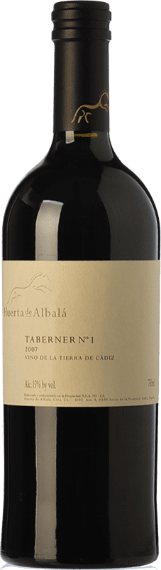 83,95 € Free Shipping | Red wine Huerta de Albalá Taberner Nº 1 Crianza 2007 I.G.P. Vino de la Tierra de Cádiz Andalusia Spain Merlot, Syrah, Cabernet Sauvignon Bottle 75 cl