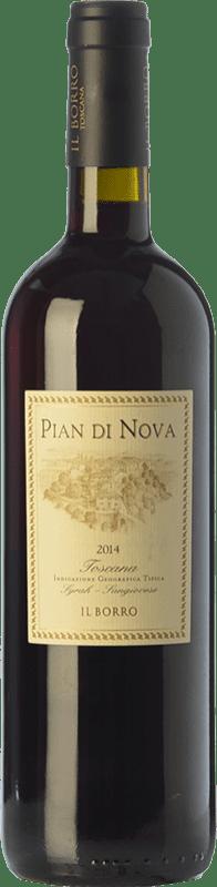 15,95 € Free Shipping | Red wine Il Borro Pian di Nova I.G.T. Toscana Tuscany Italy Syrah, Sangiovese Bottle 75 cl