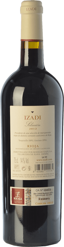 12,95 € | Red wine Izadi Selección Reserva D.O.Ca. Rioja The Rioja Spain Tempranillo, Graciano Bottle 75 cl