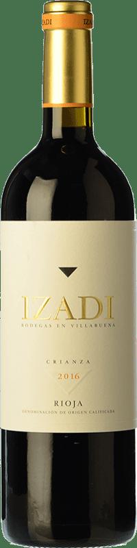 11,95 € 免费送货 | 红酒 Izadi Crianza D.O.Ca. Rioja 拉里奥哈 西班牙 Tempranillo 瓶子 75 cl