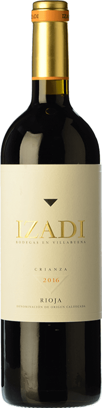 11,95 € Free Shipping | Red wine Izadi Crianza D.O.Ca. Rioja The Rioja Spain Tempranillo Bottle 75 cl