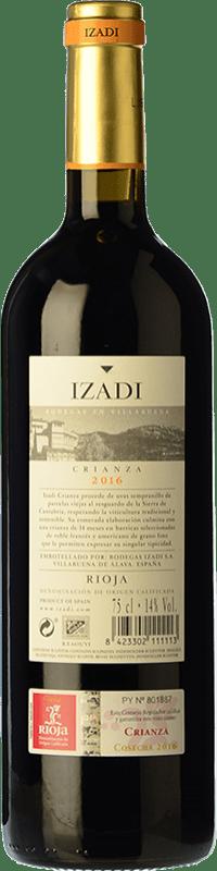 14,95 € Free Shipping | Red wine Izadi Crianza D.O.Ca. Rioja The Rioja Spain Tempranillo Jéroboam Bottle-Double Magnum 3 L