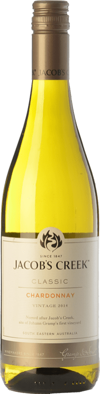 9,95 € Free Shipping | White wine Jacobs Creek Classic Crianza I.G. Southern Australia Southern Australia Australia Chardonnay Bottle 75 cl
