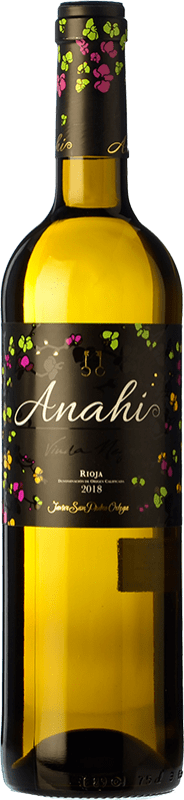 7,95 € | White wine San Pedro Ortega Anahí D.O.Ca. Rioja The Rioja Spain Malvasía, Tempranillo White, Sauvignon White Bottle 75 cl